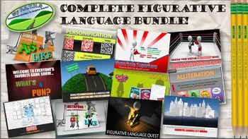 Figurative Language All-in-One Bundle (PowerPoints and Lessons)