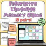 Figurative Language Concentration Game (simile, metaphor, alliteration, onomat)