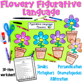 Figurative Language Craftivity with Flowers