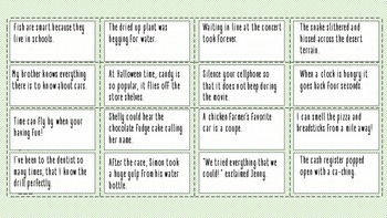 Figurative Language Cut & Sort Phrases