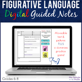 Figurative Language DIGITAL Pixanotes® (Picture Notes), PP + Dominoes Game!