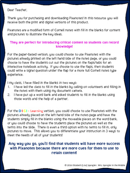 Figurative Language DIGITAL Guided Notes Distance Learning