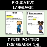 Free Figurative Language Definition Posters