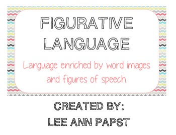 Figurative Language Definitions For Anchor Chart