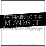 Figurative Language - Determining the Meaning of (Paper &