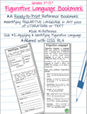 Figurative Language Devices Bookmark, Reference and Application