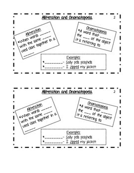 Figurative Language Differentiated Notes