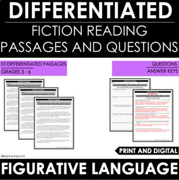 Figurative Language Differentiated Reading Passages and Questions