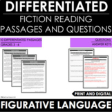 Reading Comprehension Passages and Questions Figurative Language Differentiated