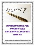 Figurative Language Differentiated for the Common Core