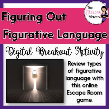 Figurative Language Digital Breakout Activity - Figuring Out Figurative Language