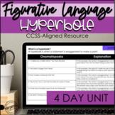 Figurative Language Digital Hyperbole Unit | Hyperbole Activity