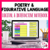 POETRY | FIGURATIVE LANGUAGE DIGITAL INTERACTIVE NOTEBOOK | DISTANCE LEARNING