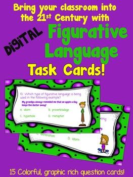 Figurative Language Digital Task Cards for Intermediate Grades (Google Drive)