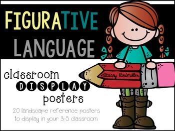 Figurative Language Display Posters (Yellow, Teal & Gray)