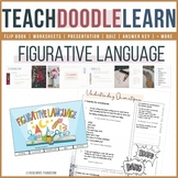 Figurative Language Doodle Notes, Flip book, Presentation,