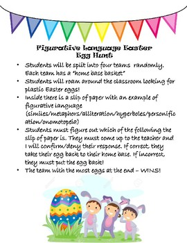 Figurative Language Easter Egg Hunt