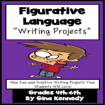 Figurative Language Creative Writing Enrichment Projects Menu, Print and Go!