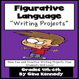 Figurative Language Creative Writing Enrichment Projects Menu, Print and Go!