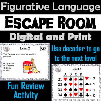 Figurative Language Escape Room - ELA