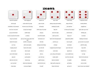 Figurative Language - Roll-a-Dice Game
