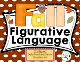 Figurative Language Fall - Data charting included