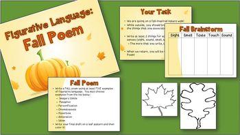 Figurative Language -- Fall Poem Activity