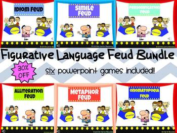 Figurative Language Feud Powerpoint Game {BUNDLE} 30% OFF