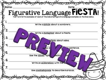 Figurative Language Fiesta (Cinco de Mayo Literacy Device Unit)