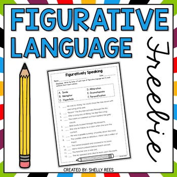 Figurative Language: Figuratively Speaking!  Worksheet and Activity Sheet