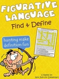 Figurative Language: Find & Define Vocabulary Word Search Worksheet