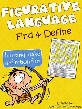 Figurative Language: Find & Define Vocabulary Word Search