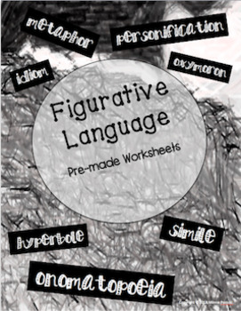 Figurative Language; Five FREE Idiom Worksheets for activities or assessment