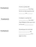 Figurative Language Flap Book