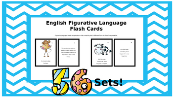 Figurative Language Flash Cards; Language Impairment; Autism; ESL