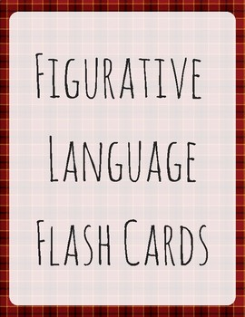 Figurative Language Flashcards