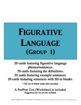 Figurative Language Flashcards (Group 1)