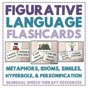 Figurative Language Flashcards: Metaphors, Similes, Idioms, Hyperbole and More!