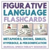 Figurative Language Worksheets - Task Cards: Metaphors, Si