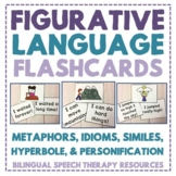 Figurative Language Flashcards: Metaphors, Similes, Idioms