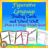 Figurative Language Trading Cards and Word Wall