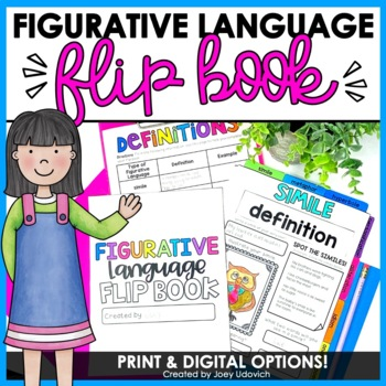 Figurative Language Flip Book by Joey Udovich | Teachers Pay Teachers