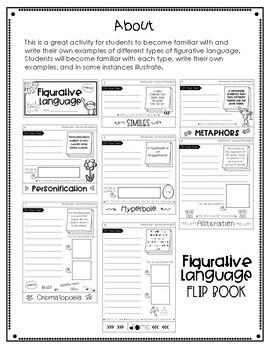 Figurative Language Flipbook | Figurative Language Activities