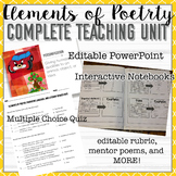 Figurative Language Flip Book, Presentation, Definitions, and Mentor Poems
