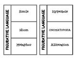 Figurative Language Flip Book for Interactive Journals