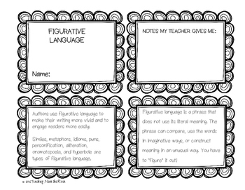 Figurative Language Flip Booklet for Kids