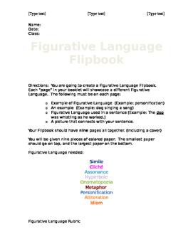 Figurative Language Flipbook