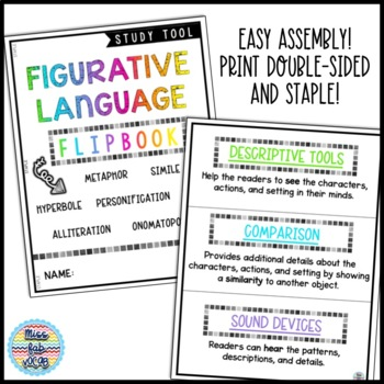 Figurative Language Flipbook | Figurative Language Activity