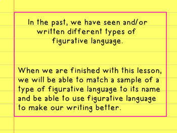 Figurative Language Flipchart for Promethean Board