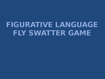 Figurative Language Fly Swatter Game